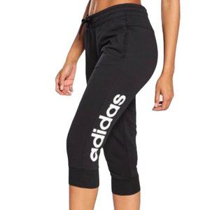Adidas Black Cropped Track Pants